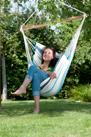 La Siesta Hammock Chair Basic Caribe�a Aqua Blue