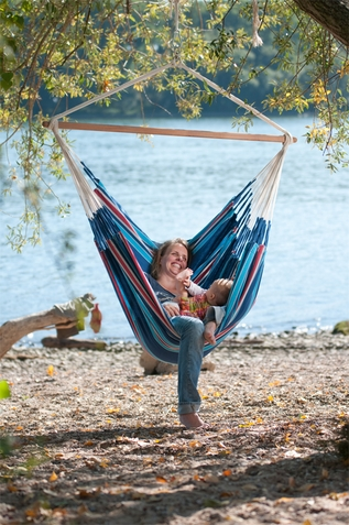 Hammock Chair Lounge Currambera Blueberry - Free Shipping