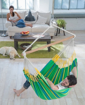 Hammock Chair Lounge Currambera Kiwi - Free Shipping
