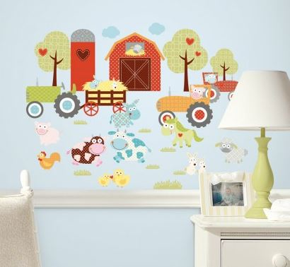 Happi Barnyard Peel & Stick Wall Decals - Free Shipping
