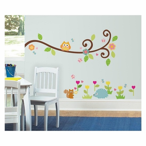 Happi Scroll Branch Peel & Stick Wall Decals - Free Shipping