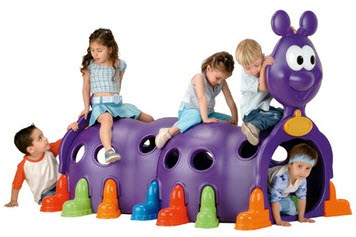ECR4Kids Happy Caterpillar Climb on Toy