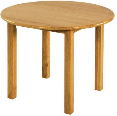"ECR4Kids Hardwood 30"" Round Classroom Play Table"