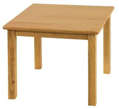 "Hardwood 30"" Square Classroom Play Table"
