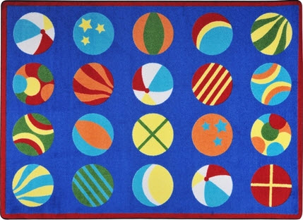 Have a Ball Preschool Area Rug 7'8 x 10'9 Rectangle