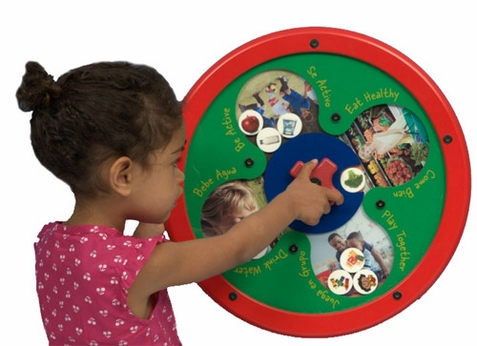 Healthy Choices Round Sorting Game Wall Toy