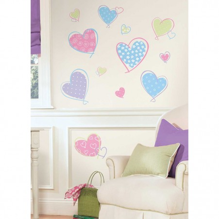 Hearts Wall Stickers - Free Shipping