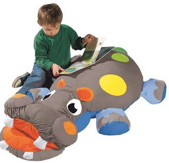 Henry the Hippopotamus Cushion Pillow - Free Shipping