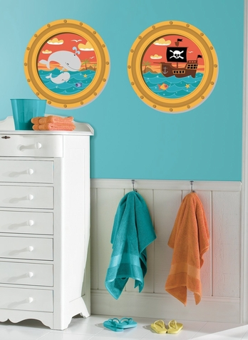 High Seas Peel & Stick Window Decals