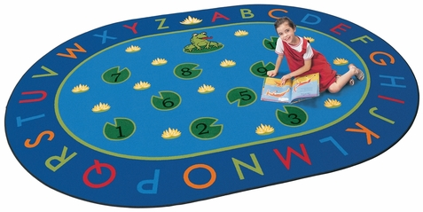Hip Hop to the Top Classroom Carpet 8'3 x 11'8 Oval