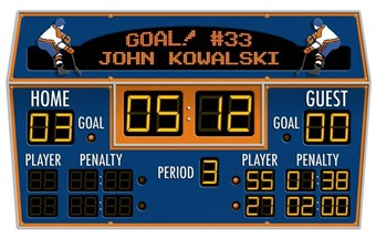 Hockey Scoreboard Peel & Stick Wall Decal
