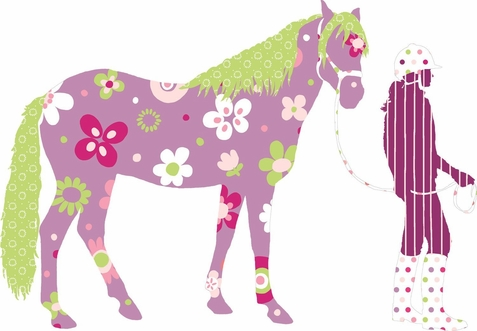 Horse Crazy Peel & Stick Giant Wall Decals