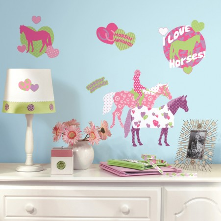 Horse Crazy Peel & Stick Wall Decals - Free Shipping
