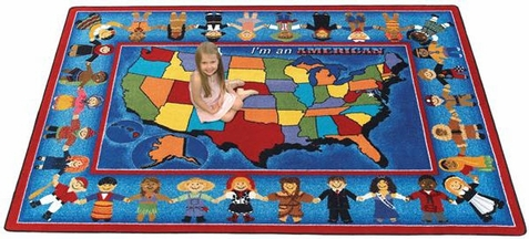 I'm an American Educational Rug - Free Shipping