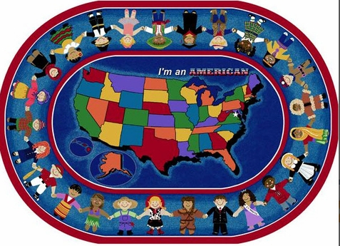 I'm an American Educational Rug 5'4 x 7'8 Oval