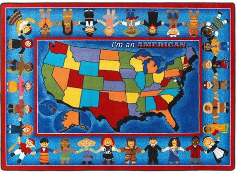 I'm an American Educational Rug 7'8 x 10'9 Rectangle
