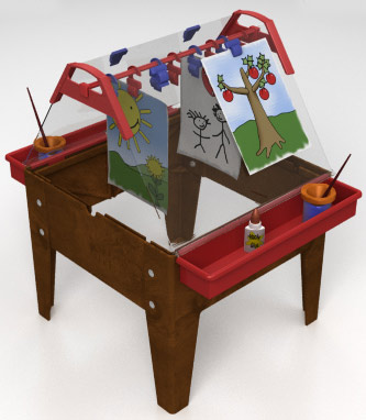 Indoor/Outdoor Toddler Easel - Free Shipping