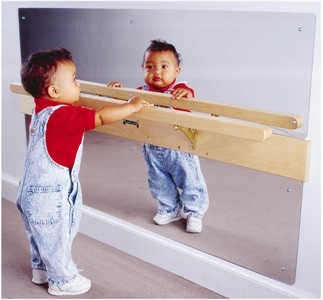 Jonti-Craft Infant Coordination Mirror with Rail