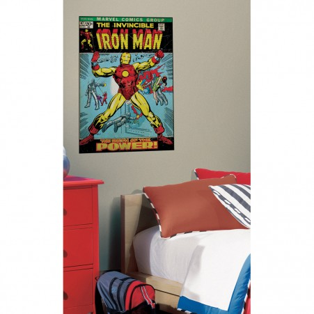Iron Man Peel & Stick Comic Book Cover