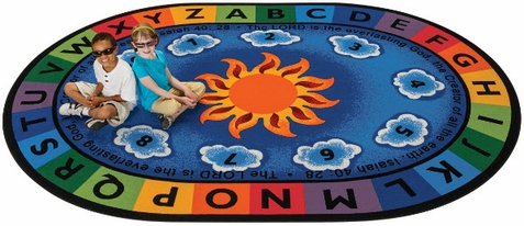 Isaiah 40:28 Oval Circletime Rug 6'9 x 9'5 - Out of Stock