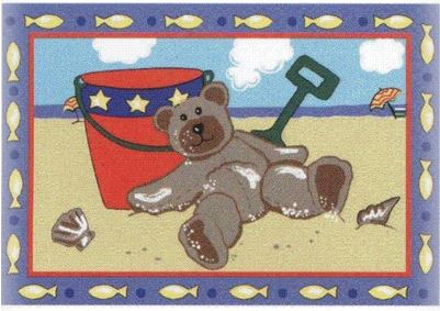 "Jade Reynolds Beach Bear Rug 39"" x 58"""