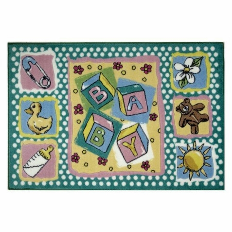 "Jade Reynolds Building Blocks Rug 39"" x 58"""