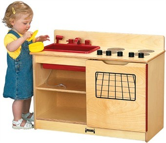 Jonti-Craft 2-in-1 Wooden Kinder Kitchen