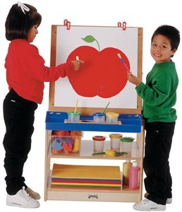 Jonti-Craft 2 Station Child's Easel with Storage