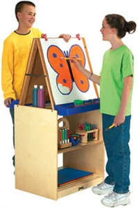 Jonti-Craft 2 Station School Age Easel