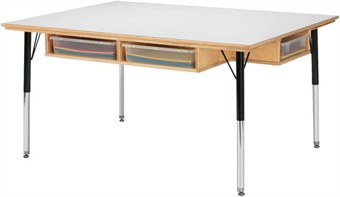 Jonti-Craft 6 Seat Table With Storage
