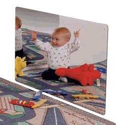 "Jonti-Craft Large 24"" x 48"" Classroom Acrylic Mirror"