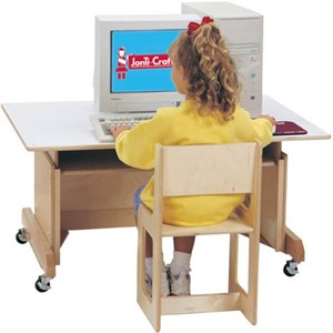 Jonti-Craft Mobile Computer Table