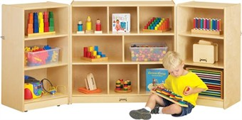 Jonti-Craft Mobile Fold-N-Lock Classroom Storage Unit