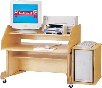 Jonti-Craft Mobile Work Station in Natural