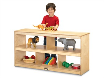 Jonti-Craft Open Back Toddler Classroom Storage Shelf