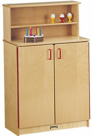 Jonti-Craft School Age Natural Birch Play Kitchen Cupboard