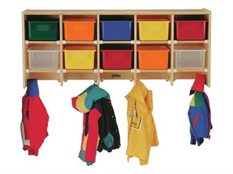 Jonti-Craft Wall Mount Storage & Coat Locker