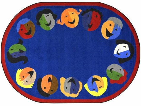 Joyful Faces Playroom Rug