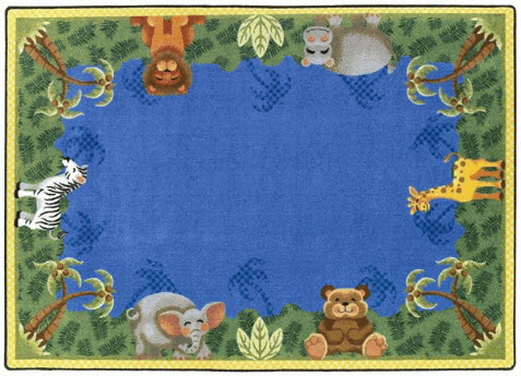 Jungle Friends Preschool Rug 5'4 x 7'8 Rectangle