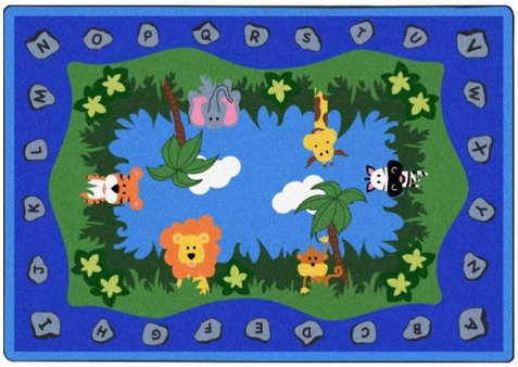Jungle Peeps School Rug 5'4 x 7'8