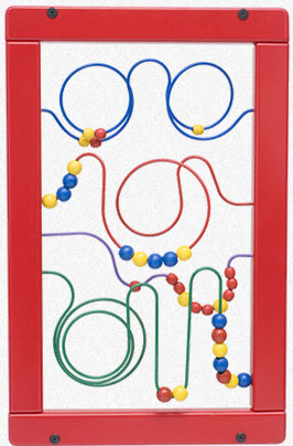 Wire & Bead Maze Wall Panel Toy