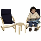 Kiddie Rocker in Blue Chairs & Little Table Set