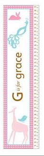 Animals Growth Chart for Girls - Free Shipping