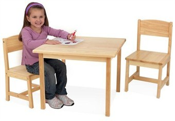 KidKraft Aspen Table & Two Chair Set in Natural