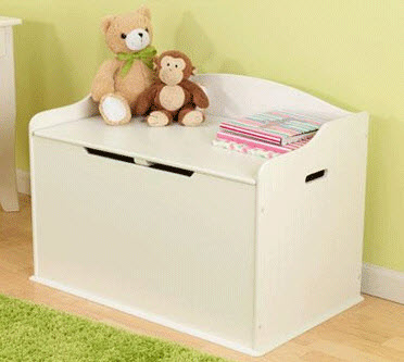 KidKraft White Austin Toy Box