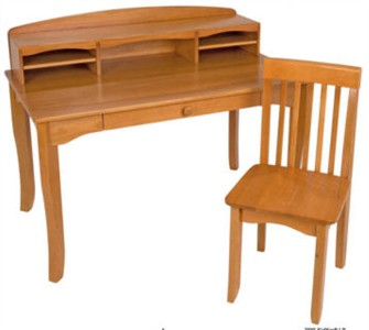 KidKraft Honey Avalon Desk with Hutch and Chair