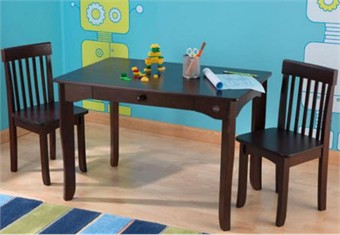 Kids Avalon Espresso Table & Chair Set
