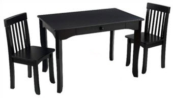 KidKraft Avalon Table and 2 Chair Set in Black
