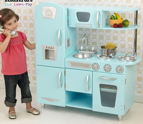 Blue Vintage Kitchen - Free Shipping