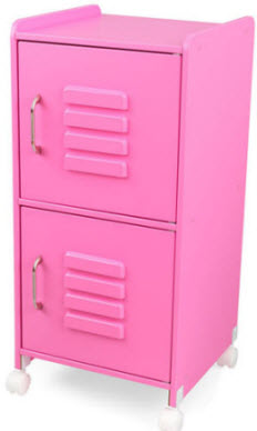 KidKraft Bubblegum Wood Locker